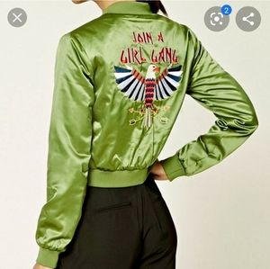 "Forever 21 ""Join A Girl Gang"" Bomber Jacket Small"